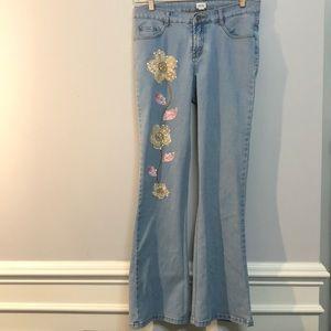 CACHE Gorgeous Flower Jeans 🌸🌺 Size 8